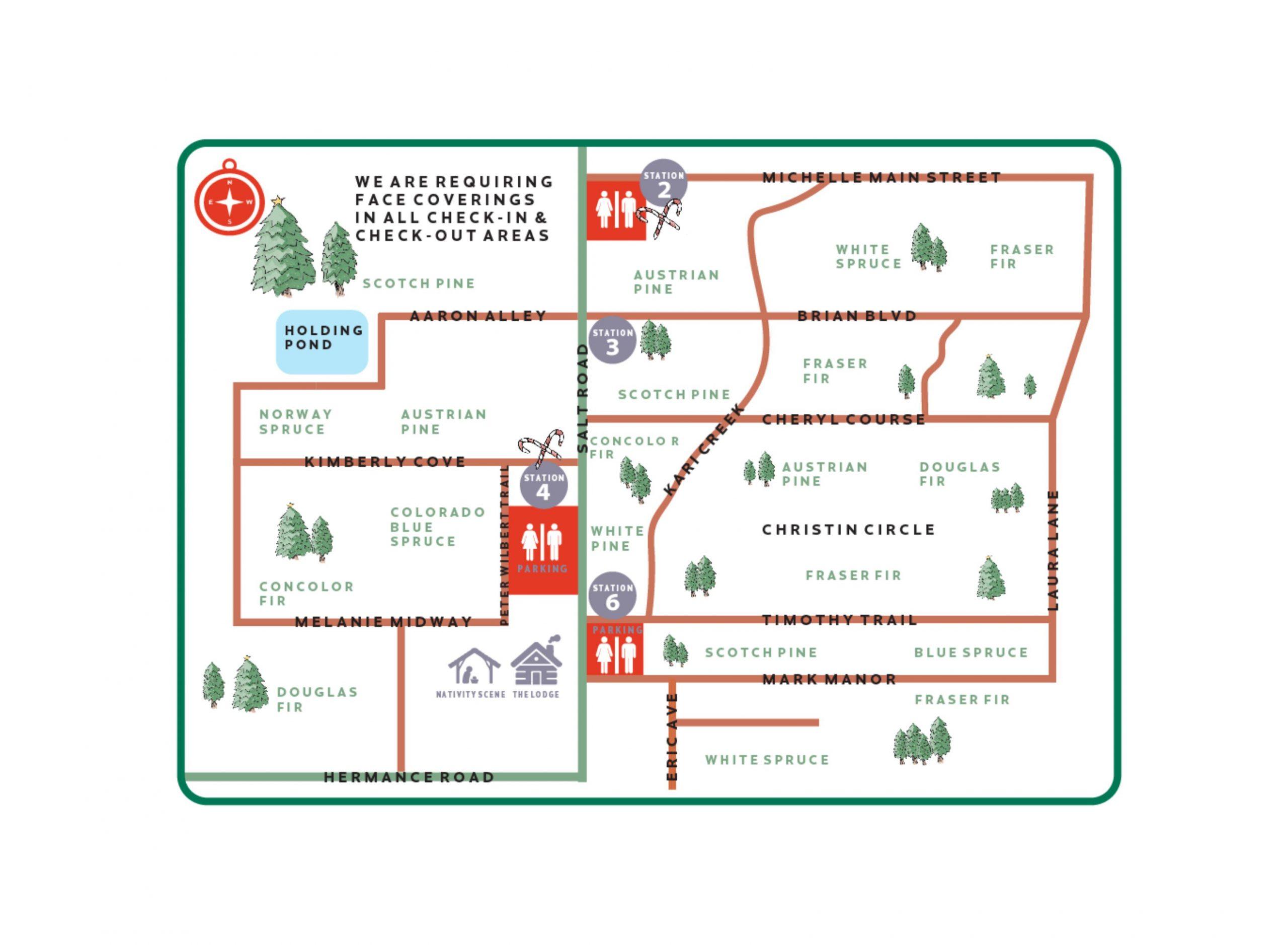 Wilbert's Tree Farm Map 2020