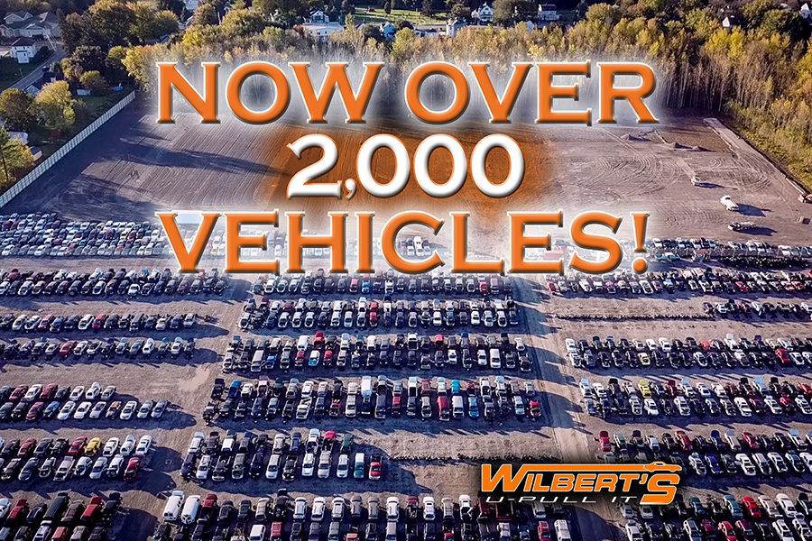 Wilbert's U-Pull It Surpasses 2,000 Vehicles!