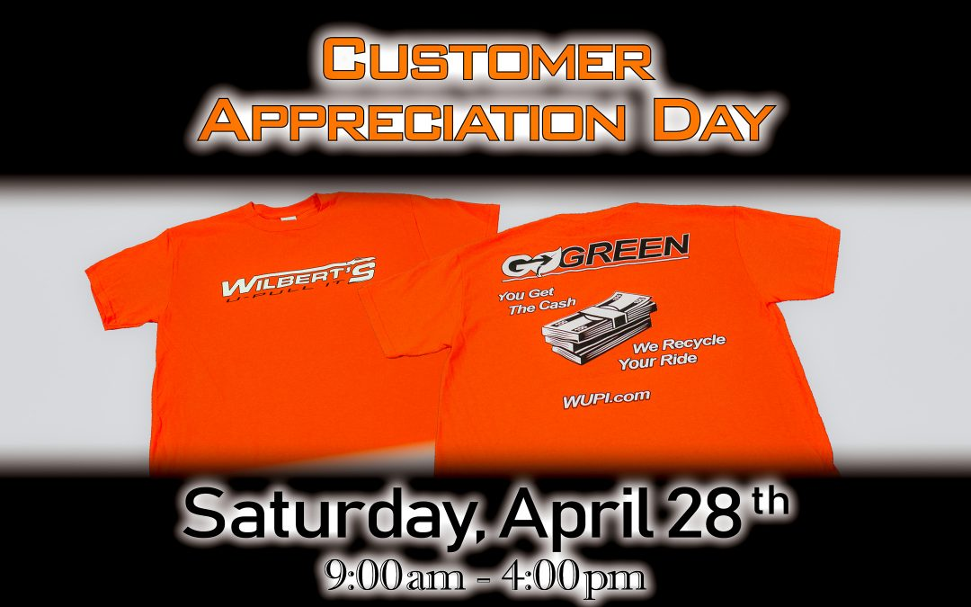 Customer Appreciation Day 4-28-2018